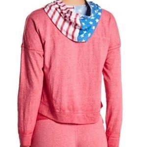 Tops - American flag cropped hoodie!